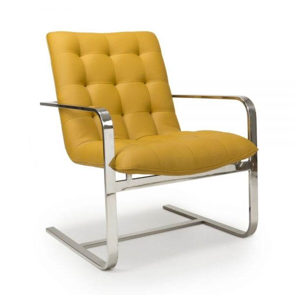 yellow corporate armchair