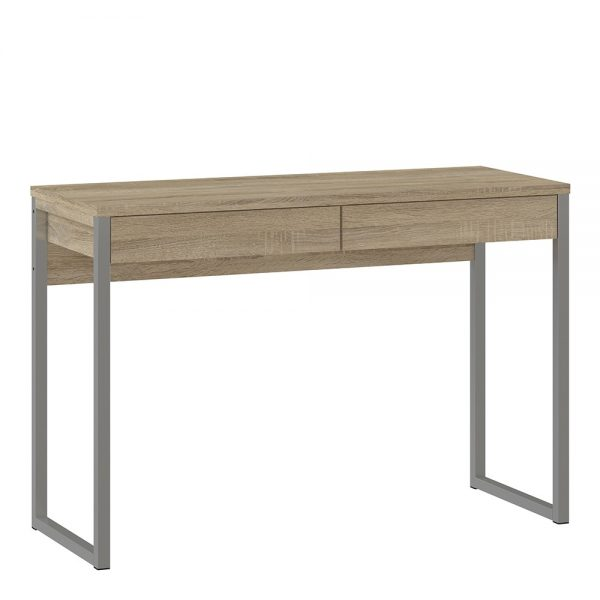 small oak home office table
