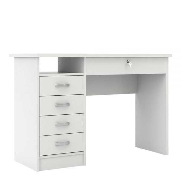 white home office desk