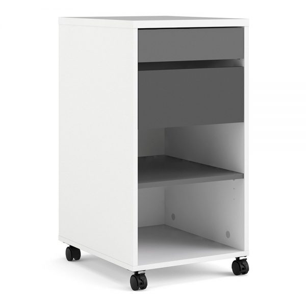 white file cabinet