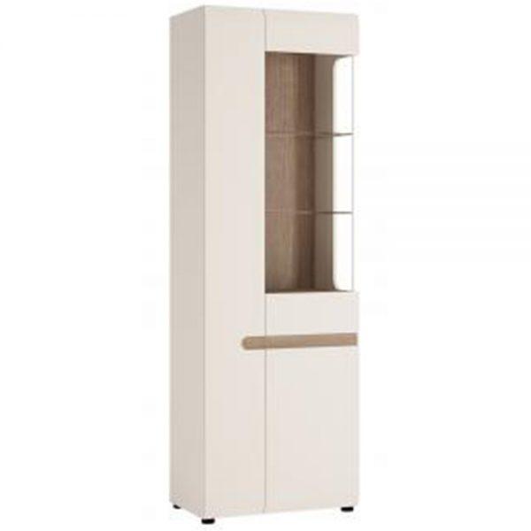 tall narrow chelsea display cabinet