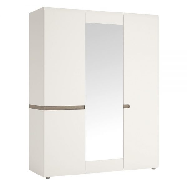 white chelsea wardrobe with mirror
