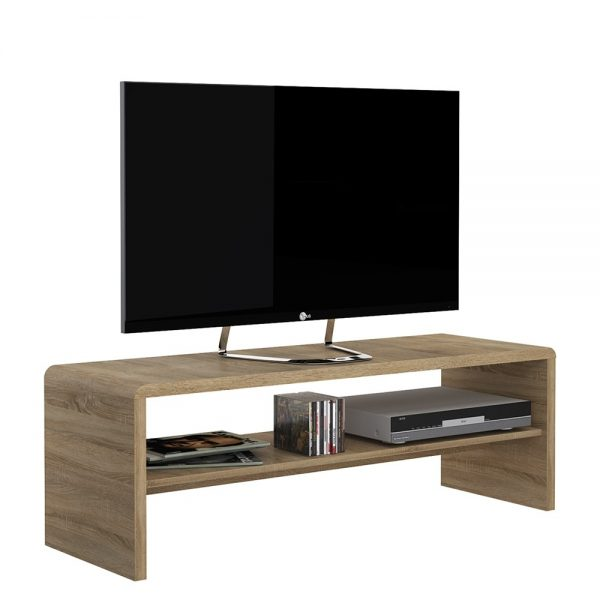 wide tv unit with shelf