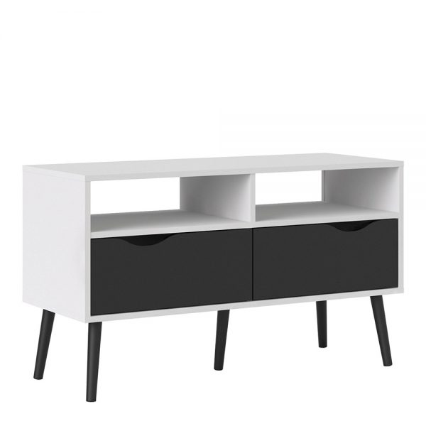 black matt tv stand