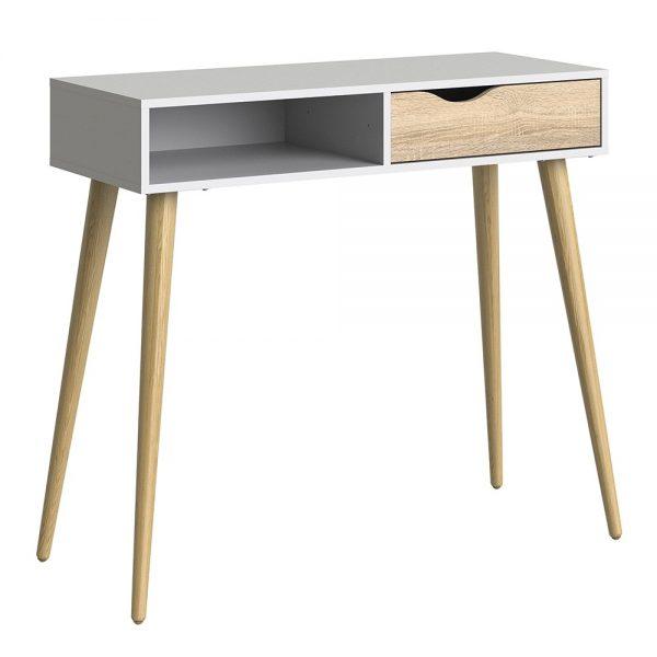 oak oslo console table