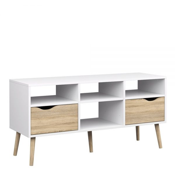 trendy white tv unit