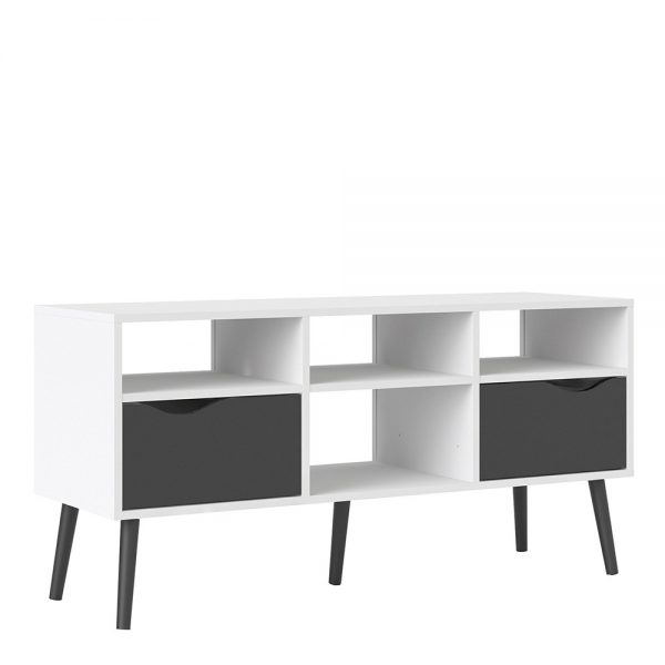 white modern tv stand