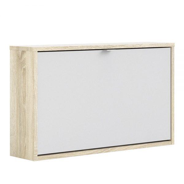 oak shoe cabinet