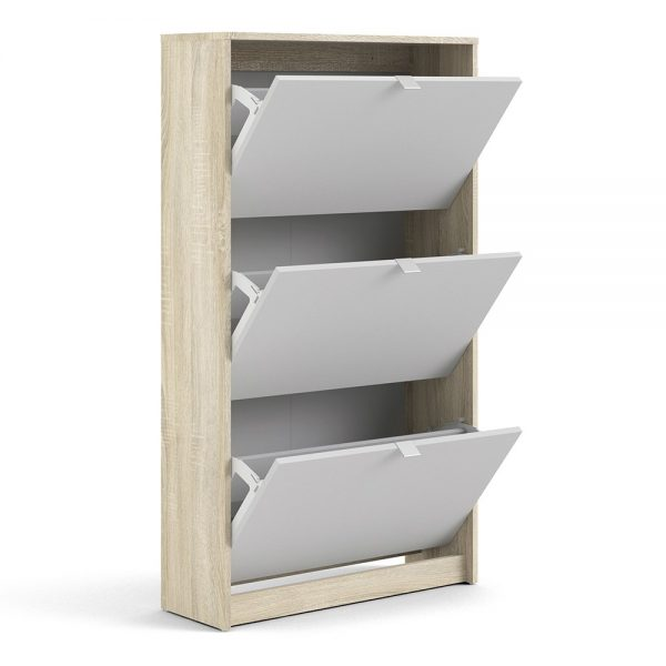 modern white shoe rack