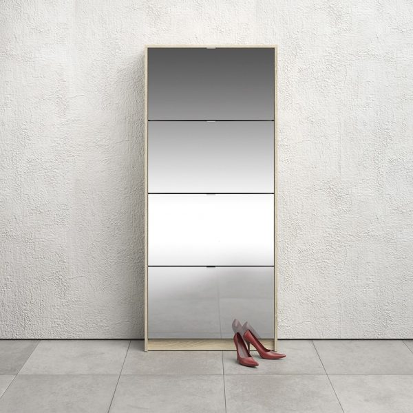 mirrored shoe cabinet