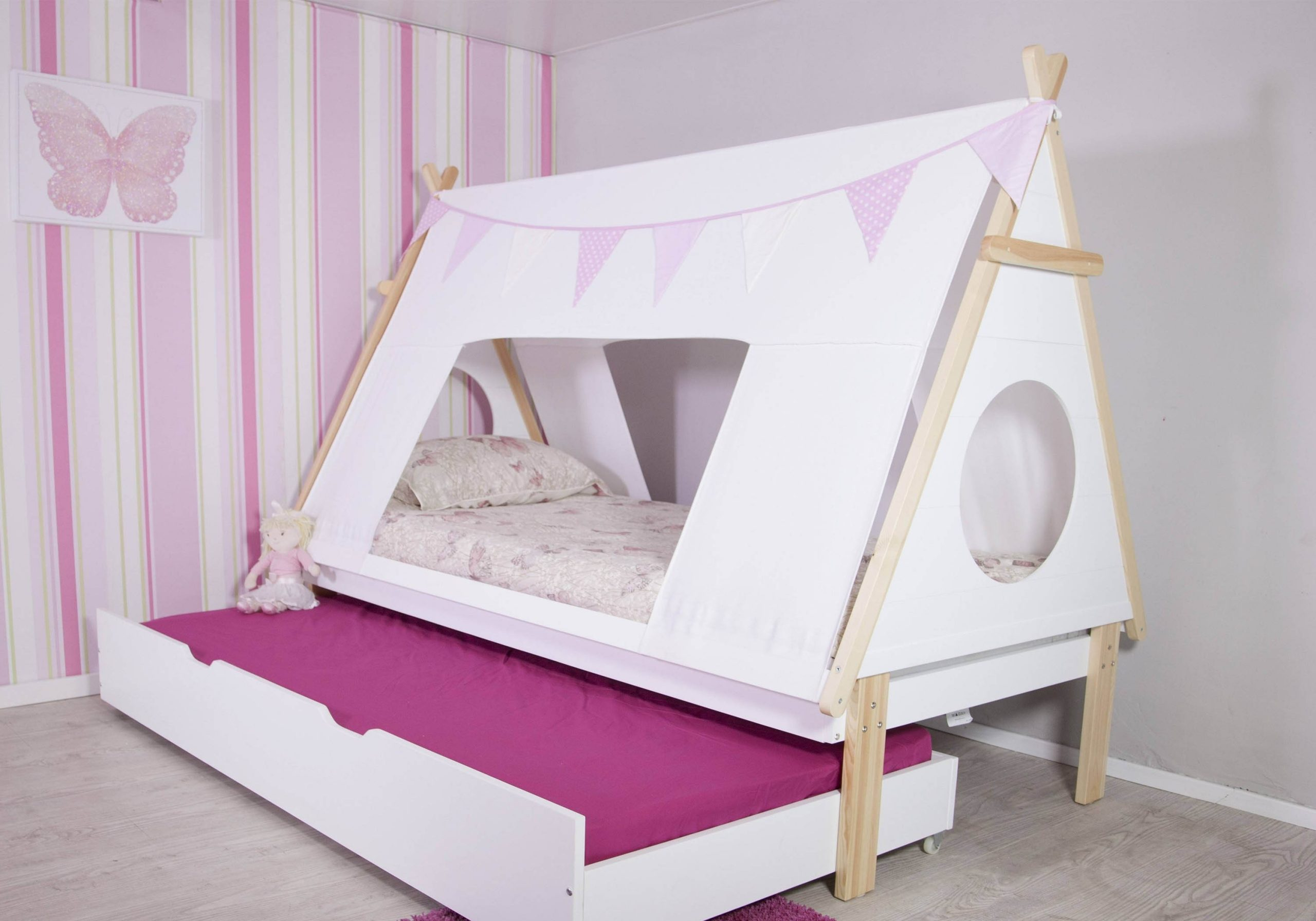 Teepee Tent Bed Frame With Guest Bed My Furniture Direct