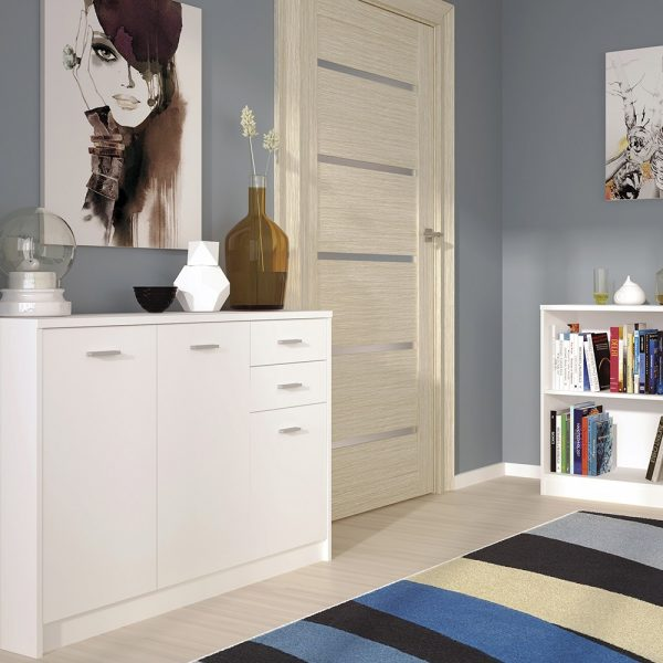 tall white sideboard
