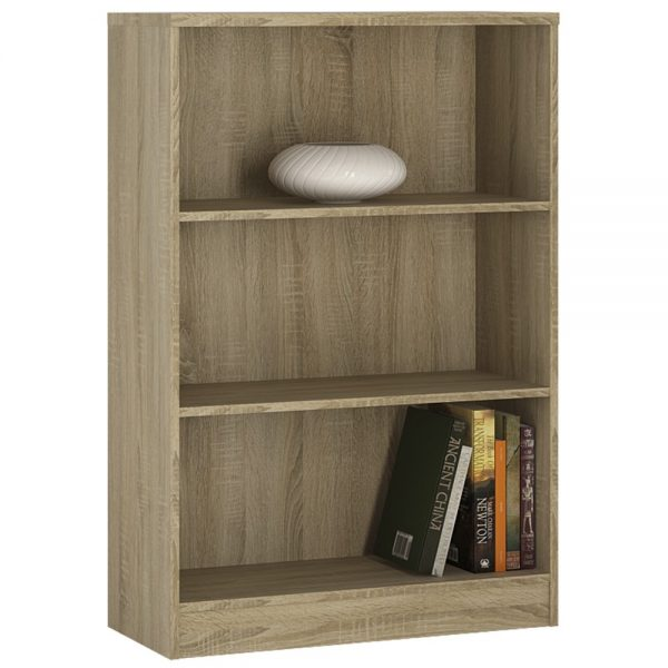 medium height wide bookcase