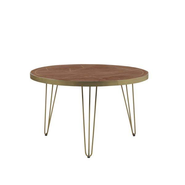 Dark Gold Round Dining Table