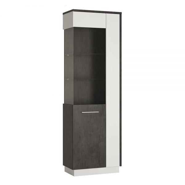 Zingaro Tall Glazed display cabinet (LH)