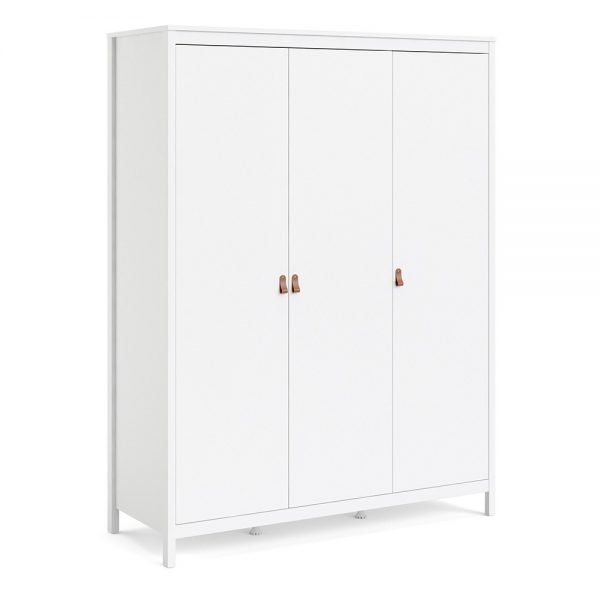 Barcelona Wardrobe with 3 doors in White