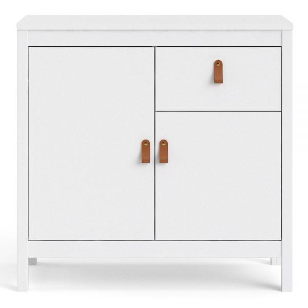 Barcelona Sideboard 2 doors + 1 drawer in White