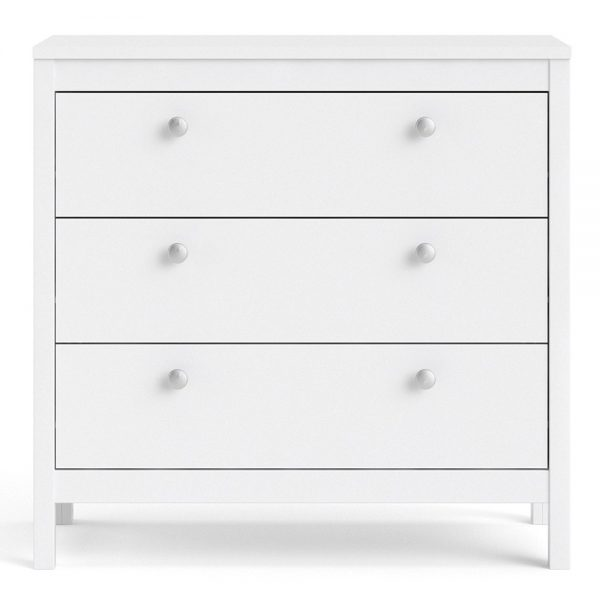 Madrid Chest 3 drawers in White