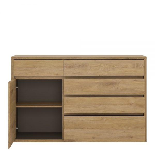 Shetland 1 Door 5 drawer cupboard