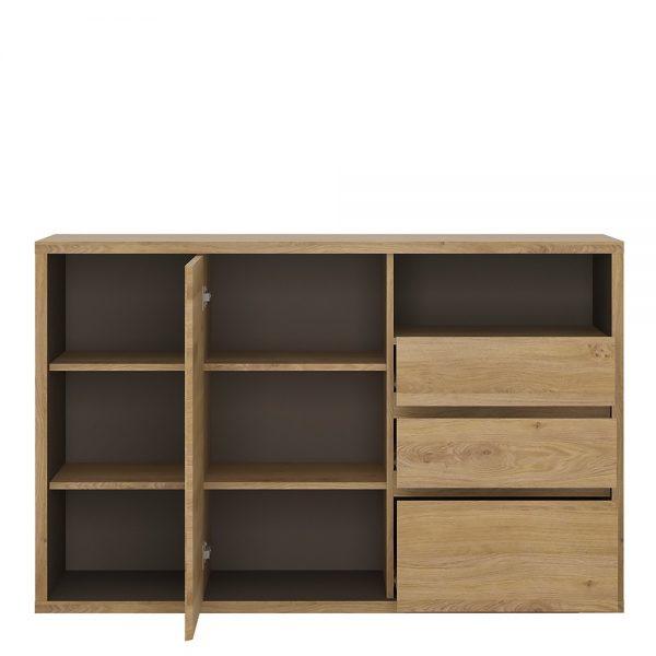 Shetland 1 Door 3 drawer sideboard