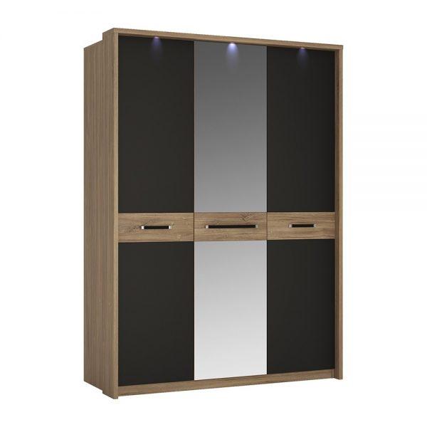 Monaco 3 door wardrobe with mirror door