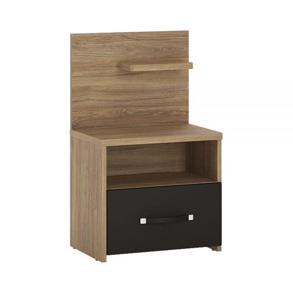 Monaco 1 drawer bedside with open shelf (RH)