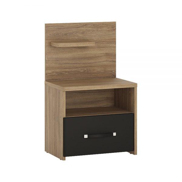 Monaco 1 drawer bedside with open shelf (LH)
