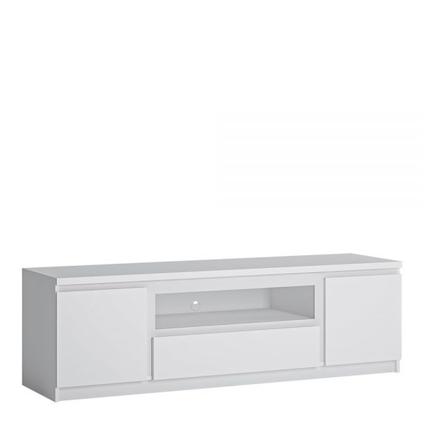 Fribo 2 door 1 drawer 166 cm wide TV cabinet in White