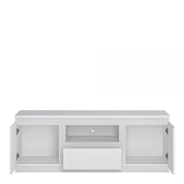 Fribo 2 door 1 drawer 136 cm wide TV cabinet in White