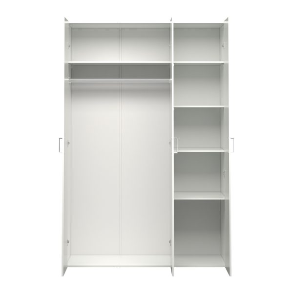 Space Wardrobe with 3 doors (175) White White