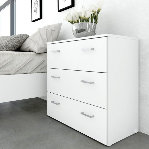 Space Chest of 3 Drawers in White