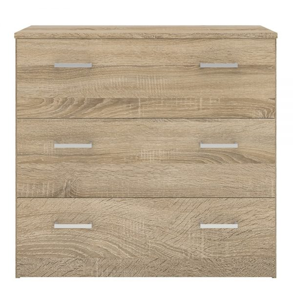 Space Chest of 3 Drawers in Oak