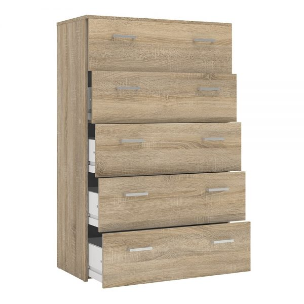 Space Chest of 5 Drawers in Oak