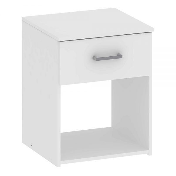 Space Bedside 1 Drawer in White