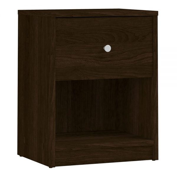 May Bedside 1 Drawer in Dark Walnut
