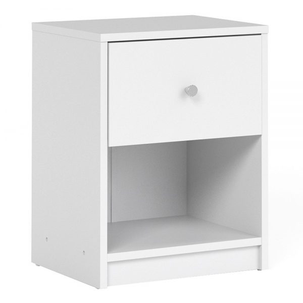 May Bedside 1 Drawer in White