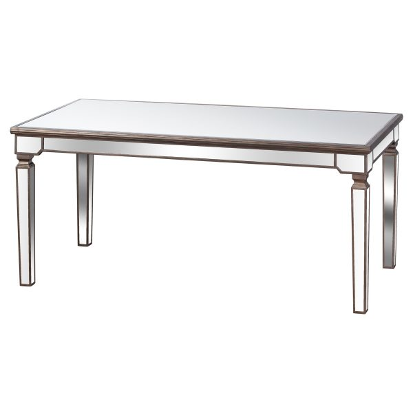 The Belfry Collection Rectangle Mirrored Dining Table