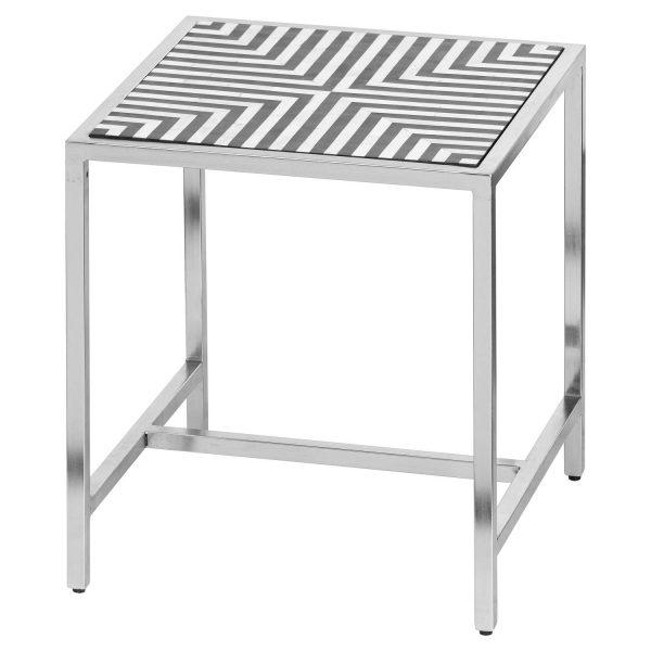 Handmade Bone Inlay Side Table