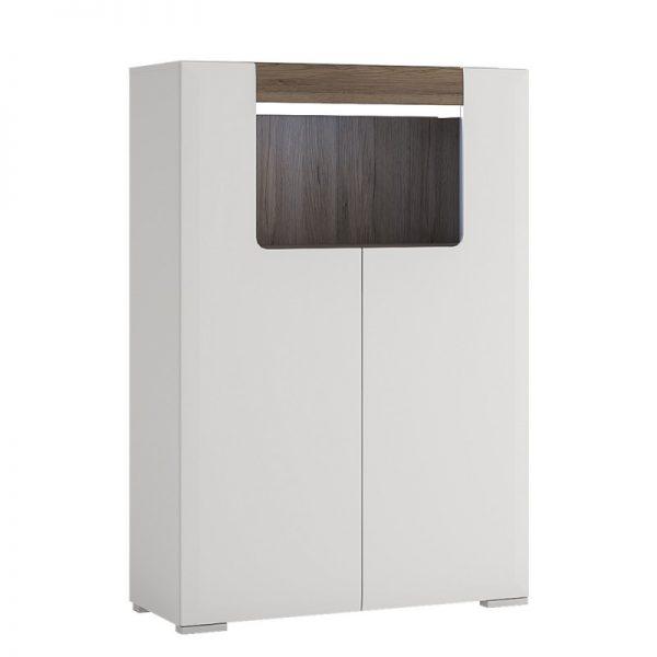 Toronto Low 2 Door cabinet with open shelf (inc Plexi Lighting)