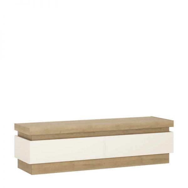 Lyon 2 drawer TV cabinet (including LED lighting) Riviera Oak