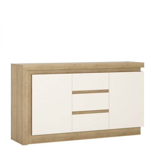 Lyon 2 door 3 drawer sideboard (including LED lighting) Riviera Oak