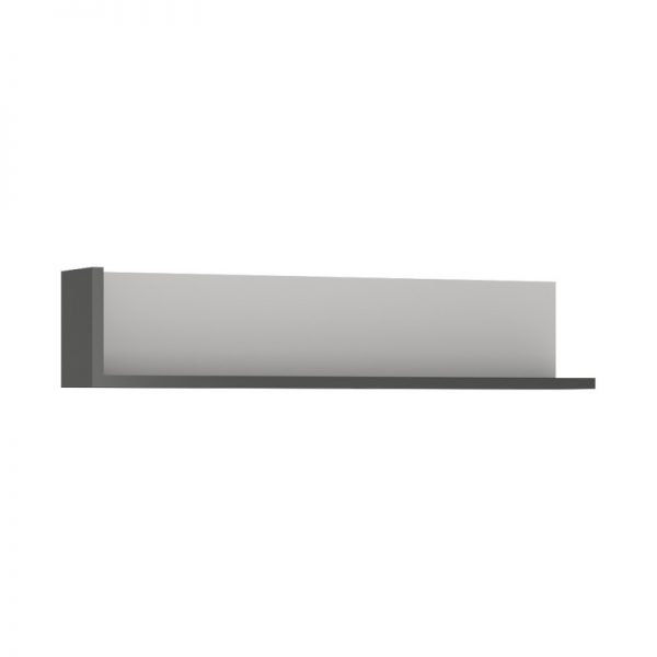 Lyon 120cm wall shelf light grey