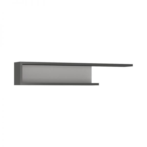 Lyon 140cm wall shelf light grey