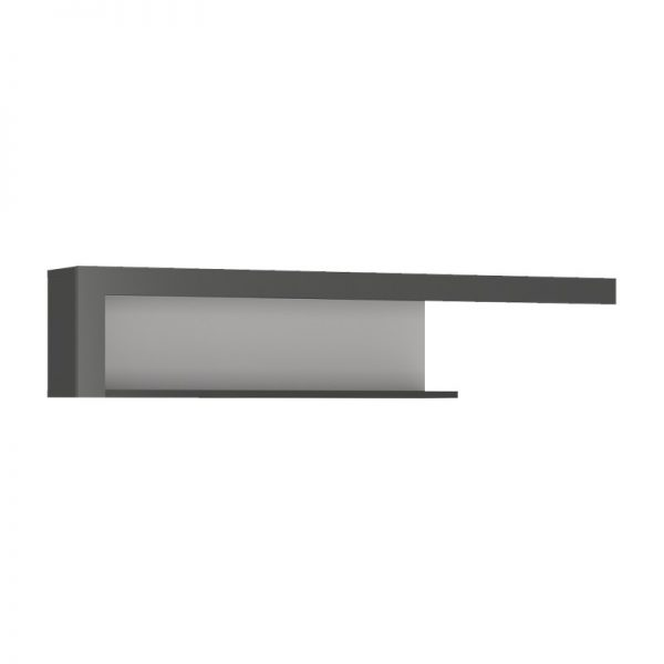Lyon 130cm wall shelf light grey