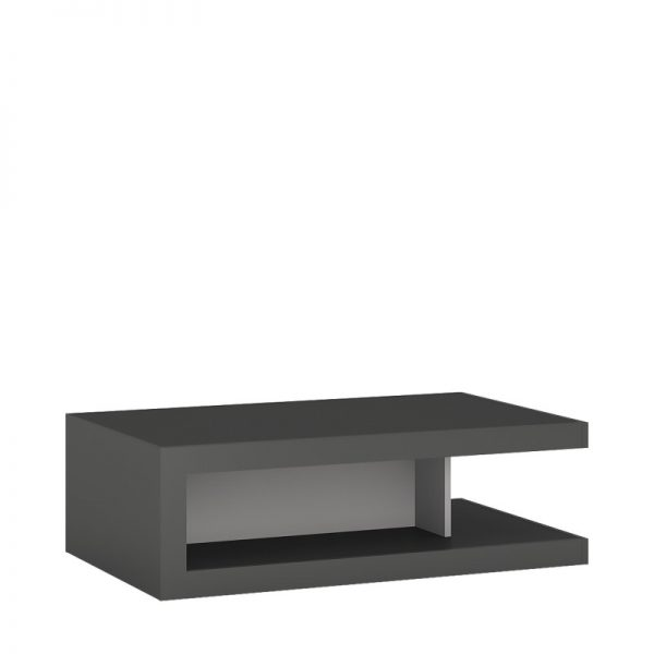 Lyon Designer coffee table on wheels light grey