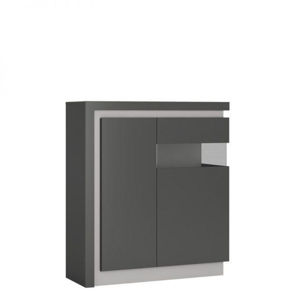 Lyon 2 door designer cabinet (RH) (including LED lighting) Riviera Oak