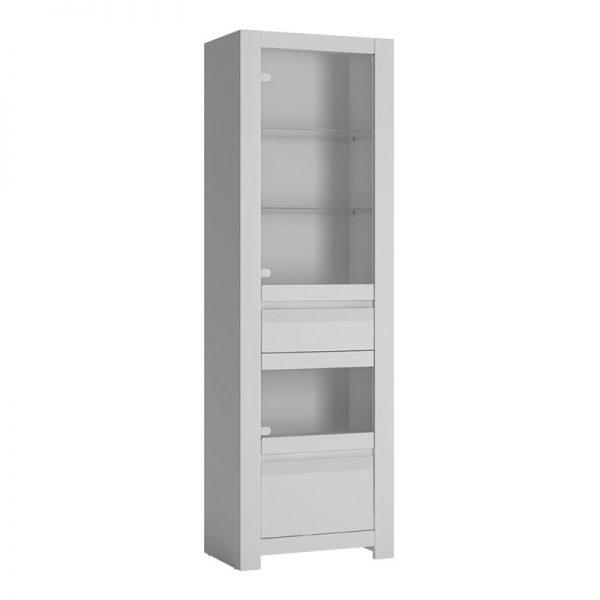 Novi 2 door 1 drawer Display Cabinet