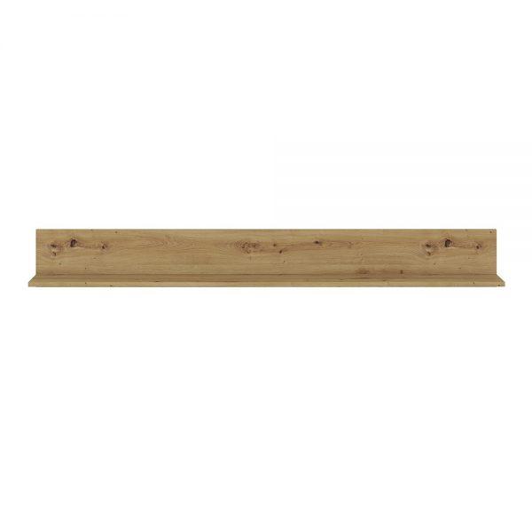 Luci 160 cm wall shelf in White and Oak
