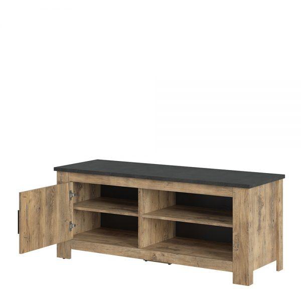 Rapallo 1 door 138 cm TV cabinet in Chestnut and Matera Grey