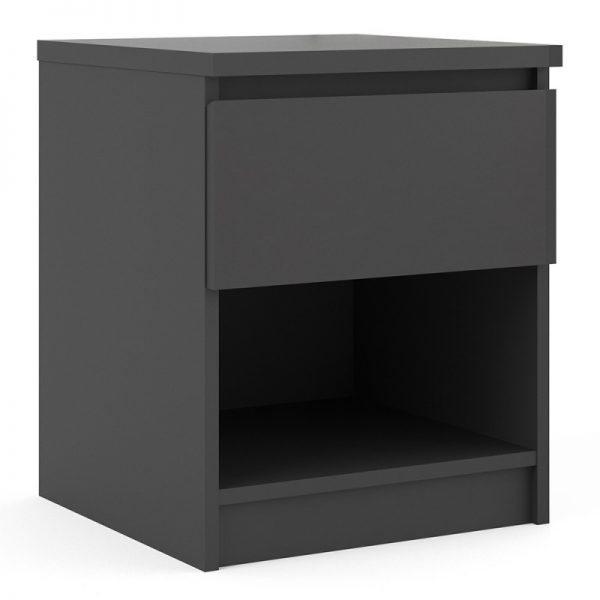 Naia Bedside - 1 Drawer 1 Shelf in Black Matt